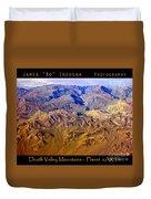 Planet Art Death Valley Mountain Aerial Duvet Cover