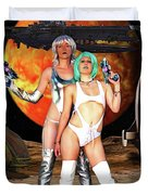 Planet Of The Space Vixens Duvet Cover