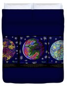 Planets 1 2 3 - Science Duvet Cover