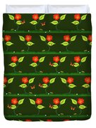 Plants And Flowers Duvet Cover