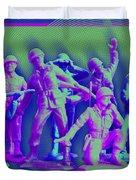 Plastic Army Man Battalion Pop Duvet Cover