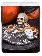 Plate Of Halloween Sugar Cookies Duvet Cover
