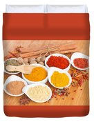 Plates Of Spices  Duvet Cover