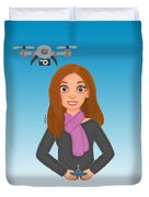 Play Drone Duvet Cover