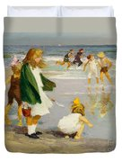 Play In The Surf Duvet Cover