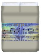 Play That Rock And Roll Duvet Cover