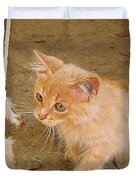 Play Time With Kitty Duvet Cover