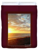 Playa Hermosa Puntarenas Costa Rica - Sunset A One Detail Two Vertical Poster Greeting Card Duvet Cover