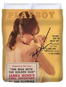Playboy Magazine Poster Signed Duvet Cover