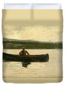 Playing A Fish Duvet Cover by Winslow Homer