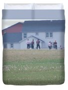 Playing Ball With Friends Duvet Cover
