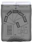 Playing Cards Patent 1889 Duvet Cover