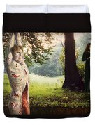 Playing For Time Duvet Cover