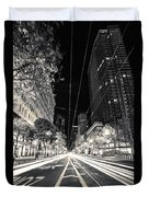 Playing In Traffic Blackout Duvet Cover