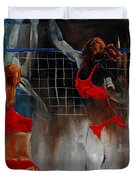 Playing Volley Duvet Cover