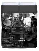playng backgammon Sinai Egypt Duvet Cover