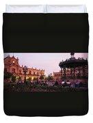Plaza De Armas, Guadalajara, Mexico Duvet Cover