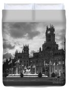 Plaza De Cibeles Fountain Madrid Spain Duvet Cover