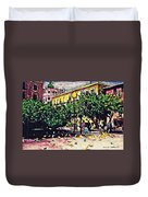 Plaza In Murcia Duvet Cover