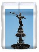 Plaza Mayor Fountain Duvet Cover
