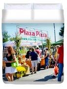 Plaza Pizza Duvet Cover