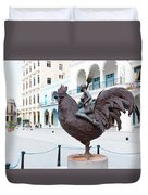 Nude On Rooster Duvet Cover