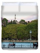 Pleasant Afternoon By Lake Pamvotis In Ioannina Duvet Cover