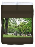 Pleasant Forest Cemetery Duvet Cover