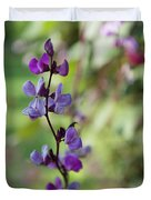 Pleasing Purple Plant Picture Duvet Cover