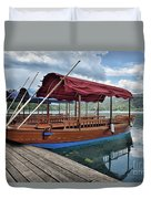 Pletna Boats Of Lake Bled Duvet Cover