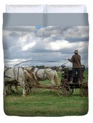 Plowing In Lancaster County Duvet Cover