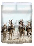 Plowing The Fields Duvet Cover