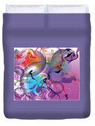 Plum Dance Duvet Cover