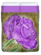 Plum Passion Rose Duvet Cover