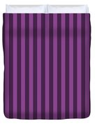 Plum Purple Striped Pattern Design Duvet Cover