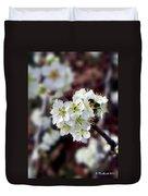 Plum Tree Blossoms II Duvet Cover
