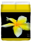 Plumeria In Yellow Duvet Cover