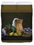Plums And Pears Duvet Cover