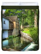Plymouth Grist Mill Duvet Cover