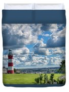 Plymouth Hoe And Smeatons Tower Duvet Cover