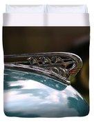 Art Deco Plymouth Hood Ornament Duvet Cover