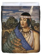 Pocahontas Wears A Turkey-feather Robe Duvet Cover