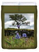 Pocket Of Lupines Duvet Cover