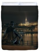 Poet On The Danube Duvet Cover