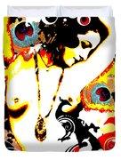 Poetic Peacock Duvet Cover