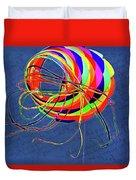 Poetry Of Kite Swirls Duvet Cover