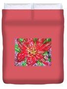 Poinsettia For Christmas Duvet Cover