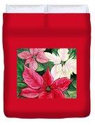 Poinsettia Pastel Duvet Cover