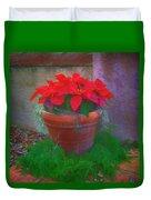 Poinsettia Pot Duvet Cover