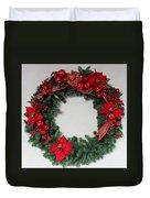 Poinsettia Wreath Duvet Cover